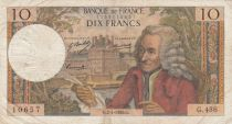 France 10 Francs Voltaire - 02-01-1969 Série H.456 - TB+