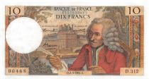 France 10 Francs Voltaire - 02-03-1967 Serial D.312 - XF