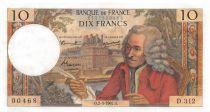 France 10 Francs Voltaire - 02-03-1967 Série D.312 - SUP