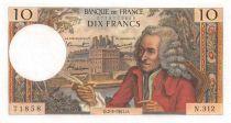 France 10 Francs Voltaire - 02-03-1967 Série N.312 - TTB+