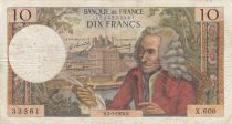 France 10 Francs Voltaire - 02-07-1970 Serial X.606 - F