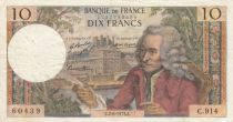 France 10 Francs Voltaire - 02-08-1973 Serial C.914 - F+