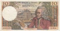 France 10 Francs Voltaire - 02-08-1973 Série C.914 - TB+