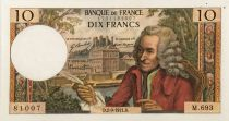 France 10 Francs Voltaire - 02-09-1971 Serial M.693 - VF+