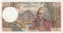 France 10 Francs Voltaire - 02-11-1967 - Serial R.362