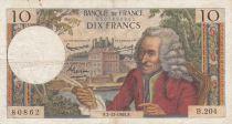 France 10 Francs Voltaire - 02-12-1965 Série B.204 - TB+