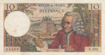 France 10 Francs Voltaire - 02-12-1965 Série K.202 - TB+