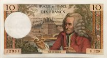 France 10 Francs Voltaire - 02-12-1971 Serial H.729 - XF