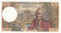 France 10 Francs Voltaire - 02-12-1971 Série T.733 - SUP