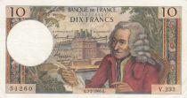 France 10 Francs Voltaire - 03-02-1966 Série V.233 - TTB