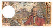 France 10 Francs Voltaire - 03-02-1972 Série N.739 - SUP