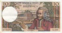 France 10 Francs Voltaire - 03-03-1966 - Serial X.244