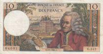 France 10 Francs Voltaire - 03-03-1966 Série O.247 - PTTB