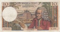France 10 Francs Voltaire - 03-06-1965 Serial O.155 - F+