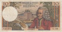 France 10 Francs Voltaire - 03-06-1965 Serial O.168 - F