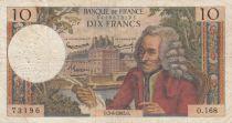 France 10 Francs Voltaire - 03-06-1965 Série O.168 - TB