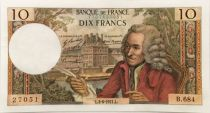 France 10 Francs Voltaire - 03-06-1971 Serial B.684 - AU