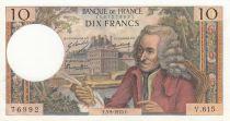 France 10 Francs Voltaire - 03-09-1970 - Serial V.615