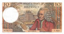 France 10 Francs Voltaire - 03-09-1970 Serial L.621 - AU