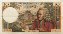 France 10 Francs Voltaire - 04-01-1963 Serial A.1 - VF