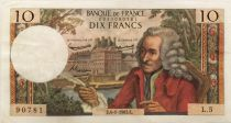France 10 Francs Voltaire - 04-01-1963 Serial L.5 - VF