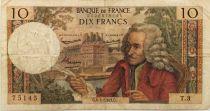 France 10 Francs Voltaire - 04-01-1963 Série T.3 - TB