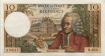 France 10 Francs Voltaire - 04-01-1973 Serial B.870 - VF