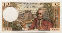 France 10 Francs Voltaire - 04-01-1973 Serial C.852 - XF