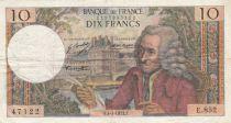 France 10 Francs Voltaire - 04-01-1973 Serial E.852 - F+