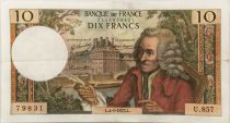 France 10 Francs Voltaire - 04-01-1973 Serial U.857 - VF+
