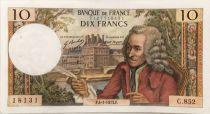 France 10 Francs Voltaire - 04-01-1973 Série C.852 - SUP