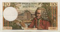 France 10 Francs Voltaire - 04-01-1973 Série U.857 - TTB+