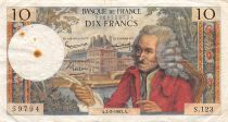 France 10 Francs Voltaire - 04-02-1965 Serial S.123 - F+