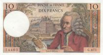 France 10 Francs Voltaire - 04-02-1971 - Serial G.671