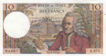 France 10 Francs Voltaire - 04-02-1971 - Série K.673