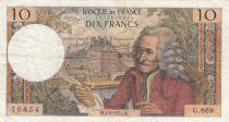 France 10 Francs Voltaire - 04-02-1971 Série G.669 - TB+