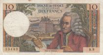 France 10 Francs Voltaire - 04-04-1963 Serial B.9 - F+
