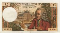 France 10 Francs Voltaire - 04-04-1968 Serial F.400 - VF+
