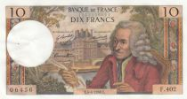 France 10 Francs Voltaire - 04-04-1968 Serial F.402 - XF+
