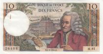France 10 Francs Voltaire - 04-06-1964 - Serial M.91 2nd