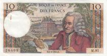 France 10 Francs Voltaire - 04-06-1964 - Série M.91 2ème ex