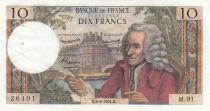 France 10 Francs Voltaire - 04-06-1964 - Série M.91