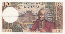 France 10 Francs Voltaire - 04-06-1964 Serial J.84 - VF+