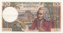 France 10 Francs Voltaire - 04-06-1964 Serial J.84 - VF+