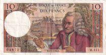 France 10 Francs Voltaire - 04-07-1968 Série M.411 - TTB