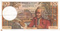 France 10 Francs Voltaire - 04-07-1968 Série V.411 - TTB