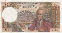 France 10 Francs Voltaire - 04-07-1968 Série W.417 - TTB