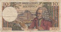 France 10 Francs Voltaire - 04-11-1966 Série Z.274