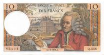 France 10 Francs Voltaire - 05-02-1970 Serial Q.546 - AU
