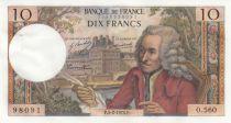 France 10 Francs Voltaire - 05-02-1970 Série O.560 - SUP+